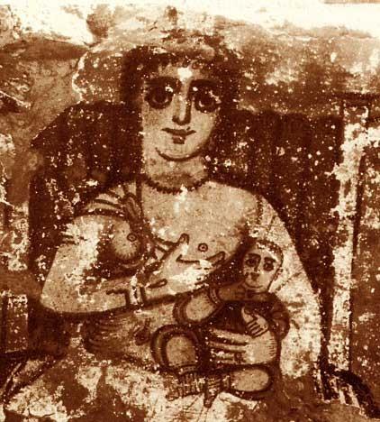 Horus allattato dalla madre  Iside